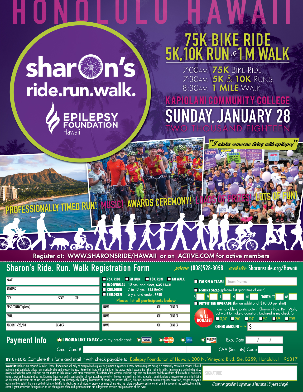 Register and make your team today for the Sharon's Ride.Run.Walk on January 28, 2018!!!