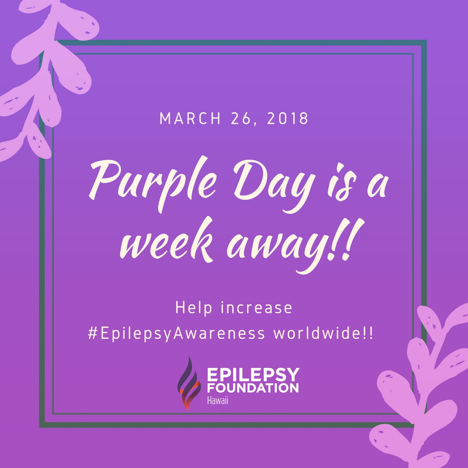 Purple Day - March 26, 2018